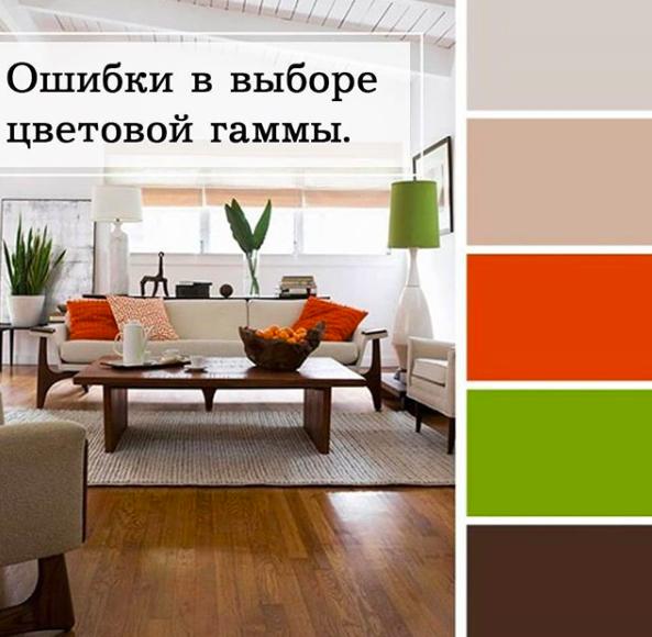 Актуальные цвета для интерьера гостинной